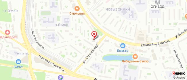 Карта расположения пункта доставки 6142 Постамат ОМНИСДЭК в городе Химки Новые