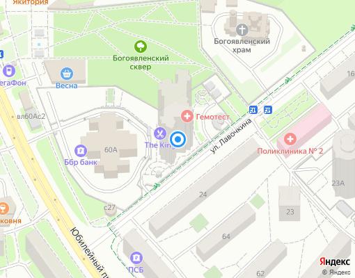 Товарищество собственников недвижимости «Лавочкина 25» на карте Химок
