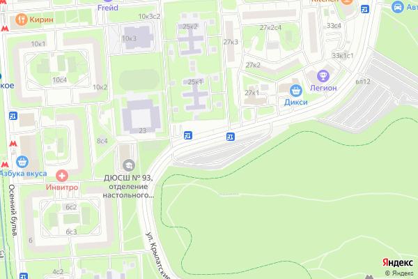 Ремонт телевизоров Улица Крылатские Холмы на яндекс карте