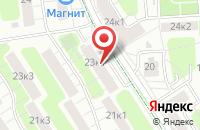Схема проезда до компании Технострой в Москве