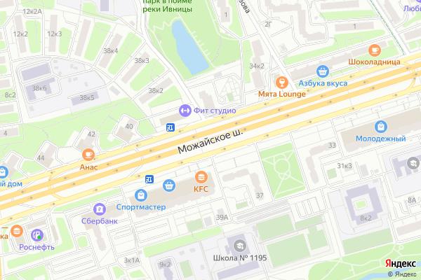 Ремонт телевизоров Можайское шоссе на яндекс карте