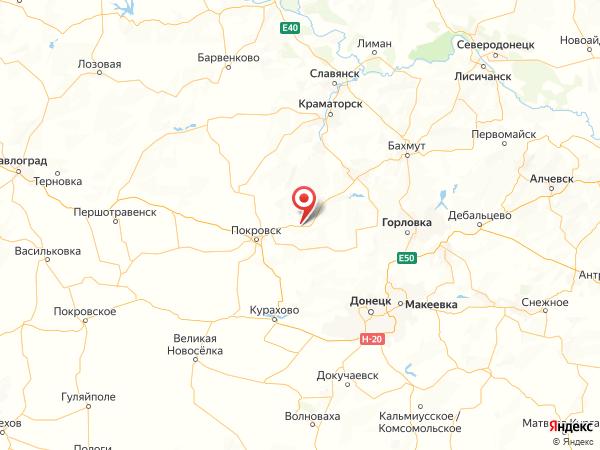 село Малиновка на карте