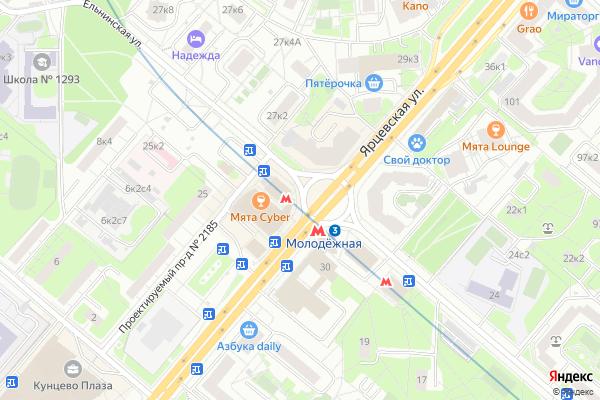 Ремонт телевизоров Метро Молоджная на яндекс карте