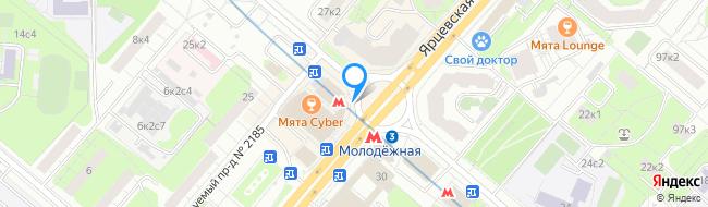 метро Молодёжная