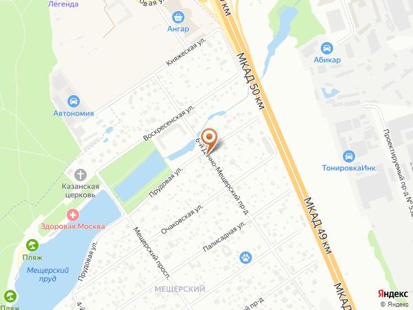 Остановка «Прудовая ул.», 6-й Дачно-Мещерский проезд (1008868) (Москва)