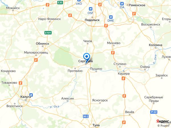 Серпухов на карте