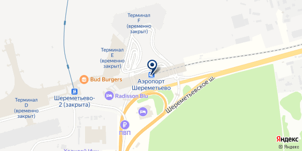 НПП АВИАТЕХСЕРВИС на карте Шереметьево