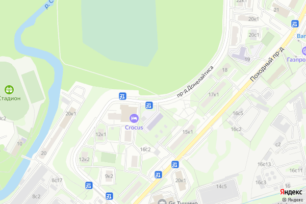 Ремонт телевизоров Донелайтиса проезд на яндекс карте