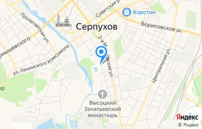 Местоположение на карте пункта техосмотра по адресу Московская обл, г Серпухов, ул Калужская
