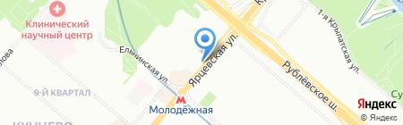 Мясоед на карте Москвы