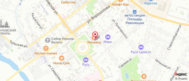 Карта расположения пункта доставки Ростелеком в городе Серпухов