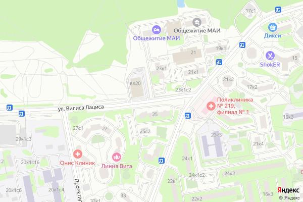 Ремонт телевизоров Улица Вилиса Лациса на яндекс карте
