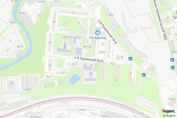 Ремонт телевизоров 1 й Тушинский проезд на яндекс карте