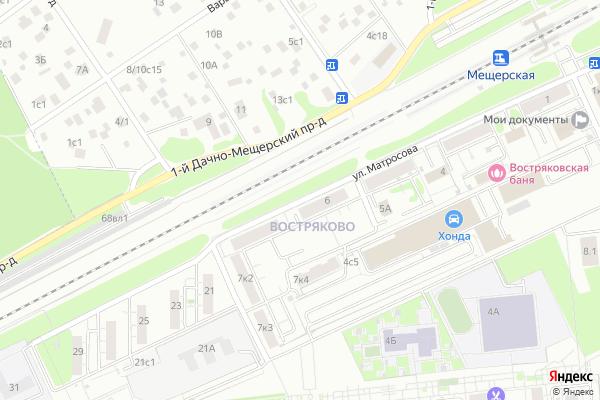 Ремонт телевизоров Улица Матросова на яндекс карте