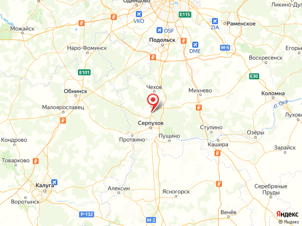 деревня Васильевское на карте
