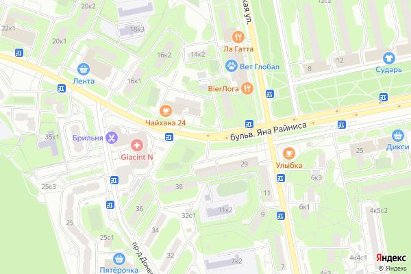 Ремонт телевизоров Яна Райниса бульвар на яндекс карте
