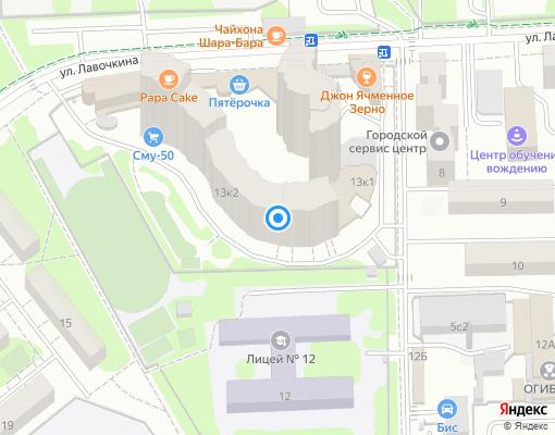 Товарищество собственников жилья «ДУБКИ» на карте Химок