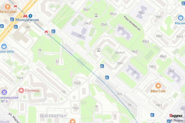 Ремонт телевизоров Улица Ельнинская на яндекс карте