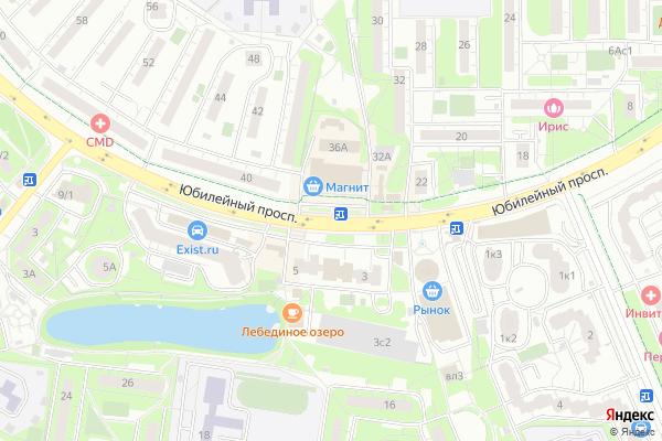 Ремонт телевизоров Юбилейный проспект на яндекс карте