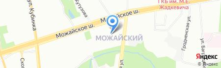Ломоносовская школа на карте Москвы