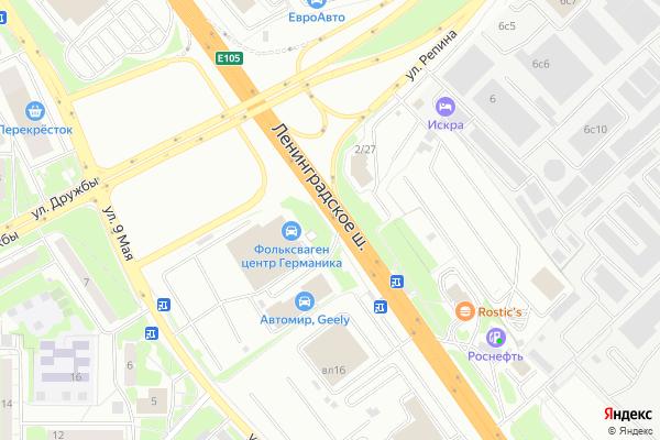 Ремонт телевизоров Ленинградское шоссе на яндекс карте