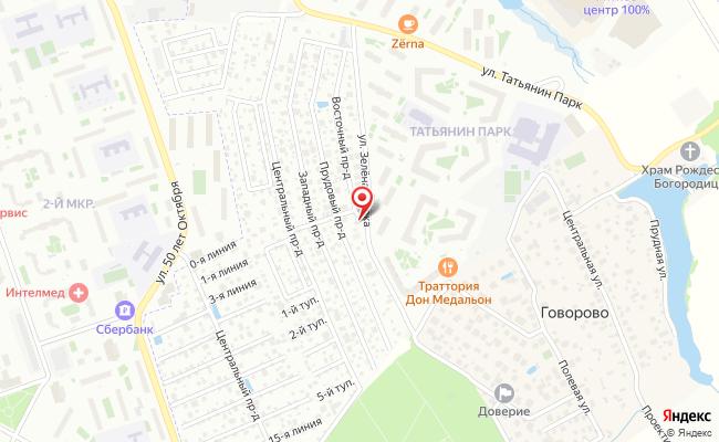 Карта расположения пункта доставки Пункт выдачи в городе Говорово