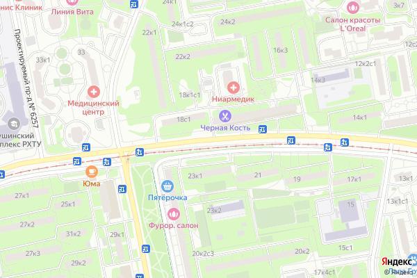 Ремонт телевизоров Улица Героев Панфиловцев на яндекс карте