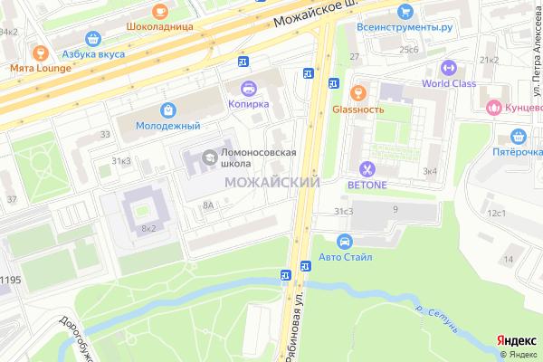 Ремонт телевизоров Район Можайский на яндекс карте