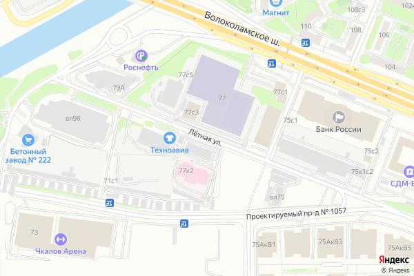 Ремонт телевизоров Улица Летная на яндекс карте