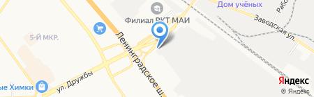 Репинстрой на карте Химок