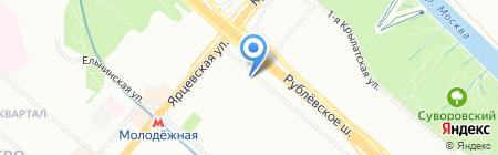 Виноград на карте Москвы