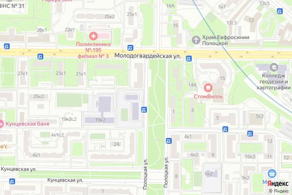 Ремонт телевизоров Улица Полоцкая на яндекс карте