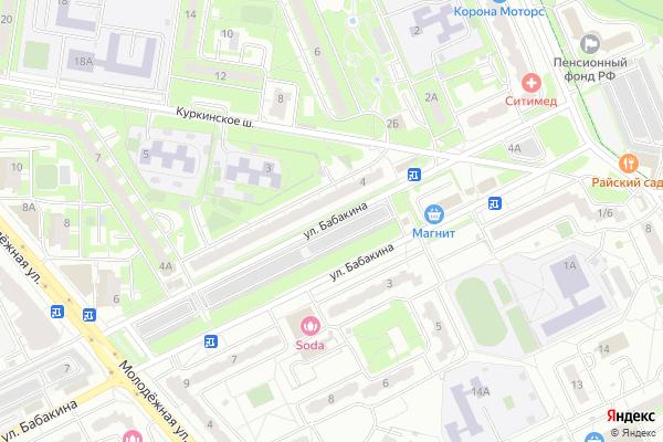 Ремонт телевизоров Улица Бабакина на яндекс карте
