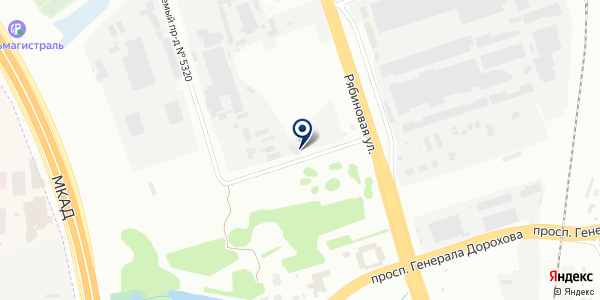 РусМак на карте Москве