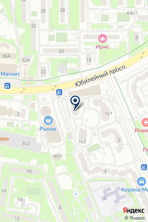 МЕБЕЛЬНЫЙ МАГАЗИН НАБЕРЕЖНАЯ на карте Юбилейного