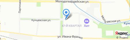 Кунцево на карте Москвы