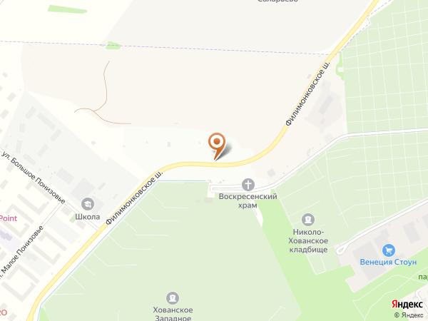 Остановка «Хованское (Западное) кладб.», Проектируемый проезд № 7038 (1008837) (Москва)
