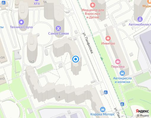 Товарищество собственников жилья «Панфилова 2» на карте Химок