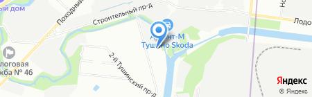 Тушино на карте Москвы
