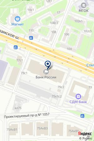 ОТДЕЛЕНИЕ № 1 МОСКОВСКОЕ ГЛАВНОЕ ТЕРРИТОРИАЛЬНОЕ УПРАВЛЕНИЕ на карте Волоколамска