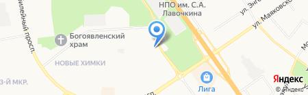 Спутник на карте Химок