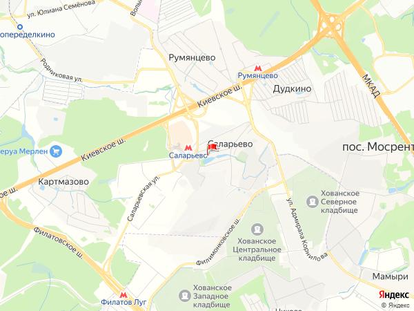 Карта населенный пункт Саларьево