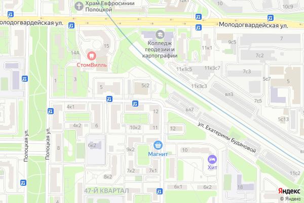 Ремонт телевизоров Улица Екатерины Будановой на яндекс карте