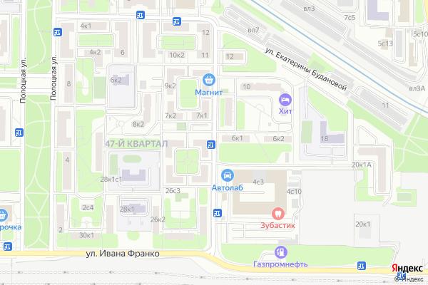 Ремонт телевизоров Улица Коцюбинского на яндекс карте