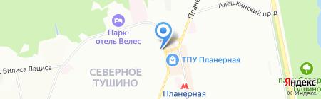 Центр занятости населения Северо-Западного административного округа на карте Москвы