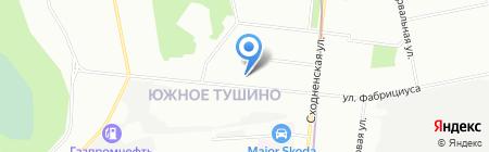 Цветочки на карте Москвы