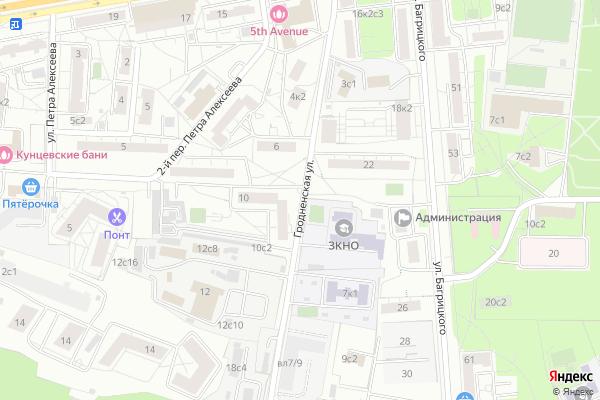 Ремонт телевизоров Улица Гродненская на яндекс карте