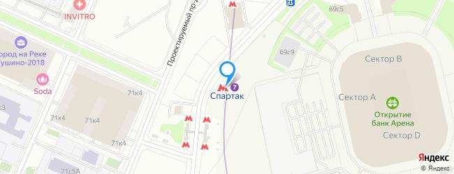 метро Спартак