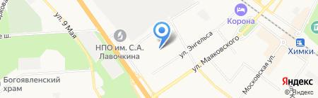 Детский сад №55 Дюймовочка на карте Химок