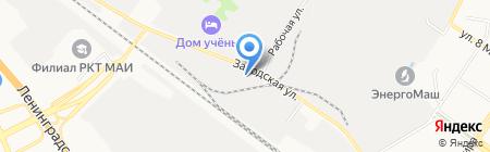 Трезубец на карте Химок